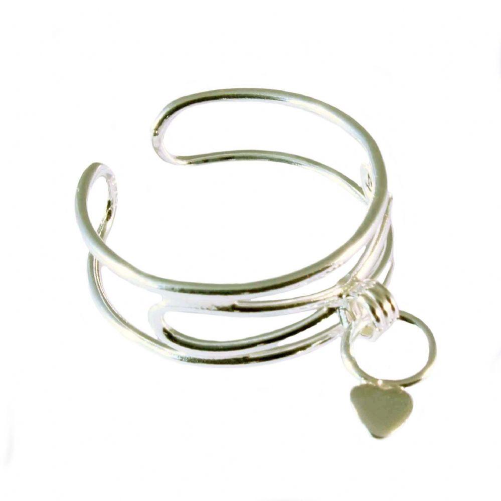 charm school uk gt sterling silver toe rings gt dangle